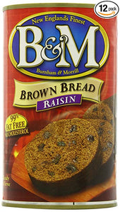 B & M Brown Bread, Raisin, 16 Ounce (Pack of 12)