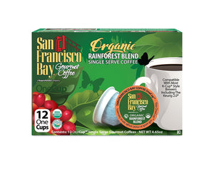 San Francisco Bay OneCup, Organic Rainforest Blend, 12 Count- Single Serve Coffee, Compatible with Keurig K-cup Brewers (Pack of 3) - Buy Fast delivery