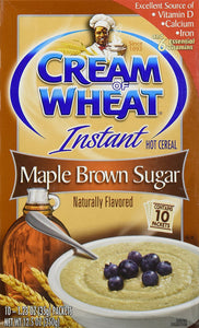 Cream of Wheat Maple Brown Sugar Instant Hot Cereal, 10 (1.23 Ounce per pack)  (pack of 3) - Buy Fast delivery