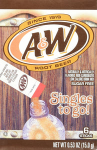 A&W Root Beer Drink Mix Singles to Go! 12 Boxes, 6 Packets Each - Buy Fast delivery