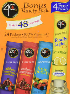 4C Totally Light To Go Bonus Variety Pack, 4 Flavors, 24-Count Boxes (Pack of 3) - Buy Fast delivery
