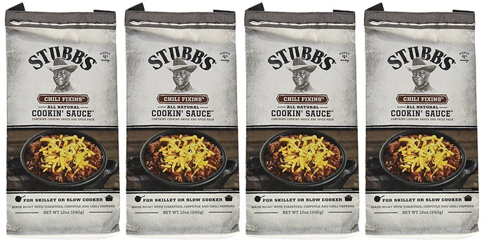 Stubb's Chili Fixins Cookin' Sauce, 12 Ounce (Pack of 4) - Buy Fast delivery