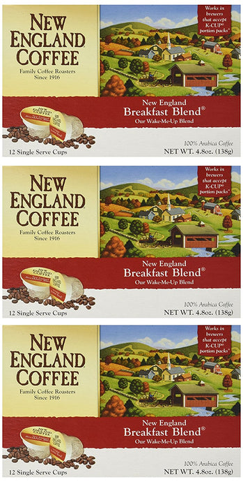 New England Breakfast Blend Single Serve Cups (Pack of 3) - Buy Fast delivery