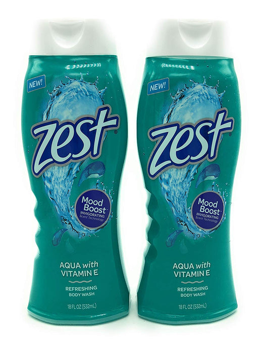 Zest Body Wash, Aqua, 18 Ounce, 2 Pack - Buy Fast delivery