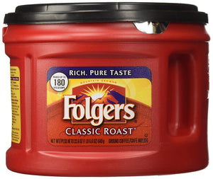 Folgers Classic Roast Ground Coffee, 22.6-Ounce (Pack of 3) - Buy Fast delivery
