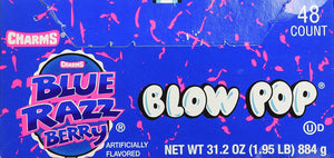 Blow Pops 48 Pack Blue Razz Berry - Buy Fast delivery