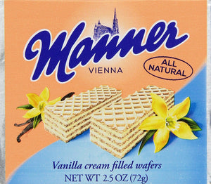 Manner Wafers Vanilla Pocket Pack, 2.54-Ounce (Pack of 12) - Buy Fast delivery