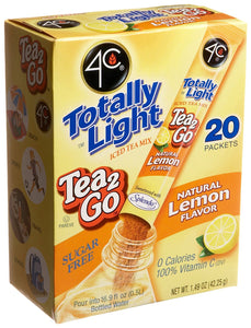 4C Totally Light Tea 2 Go Lemon Ice Tea Mix, Sugar Free, 20-Count Boxes (Pack of 3) - Buy Fast delivery