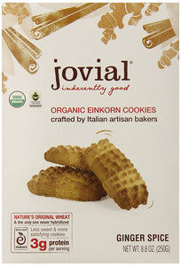 Jovial Organic Einkorn Cookies, Ginger Spice, 8.8 Ounce - Buy Fast delivery