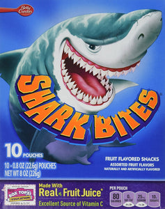 Betty Crocker Shark Bites Fruit Flavored Snacks - 8 oz box (2 Pack) - Buy Fast delivery
