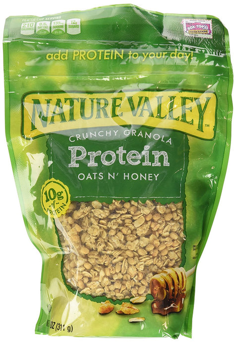 Nature Valley, High Protein Granola, Oats and Honey, 11oz Bag (Pack of 4) - Buy Fast delivery