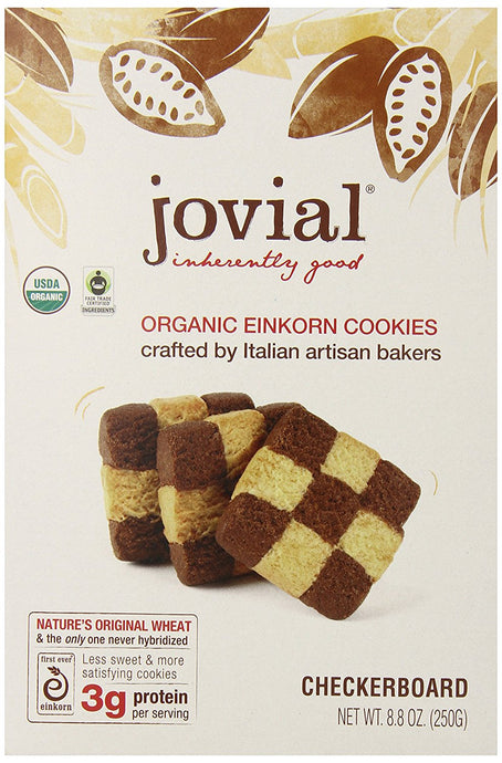 Jovial Foods Organic Einkorn Cookies, Checkerboard, 8.8 Ounce - Buy Fast delivery