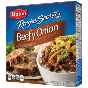 Lipton Recipe Secrets, Beefy Onion, 2 Count 2.2 Ounce Boxes - Buy Fast delivery