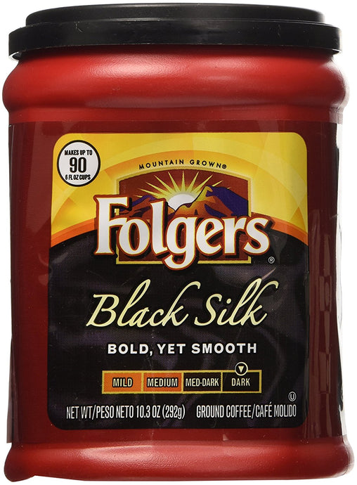 Folgers Black Silk Coffee 10.3 Oz Pack of 4 - Buy Fast delivery