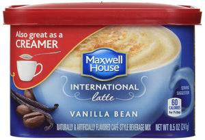 Maxwell House International Coffee Vanilla Bean Latte (Pack of 4) - Buy Fast delivery
