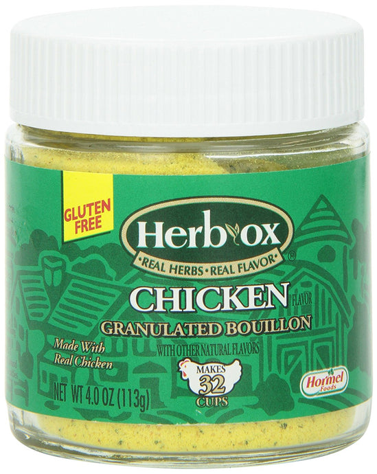 Herbox Bouillon, Granulated Chicken, 4-Ounce (Pack of 6) - Buy Fast delivery