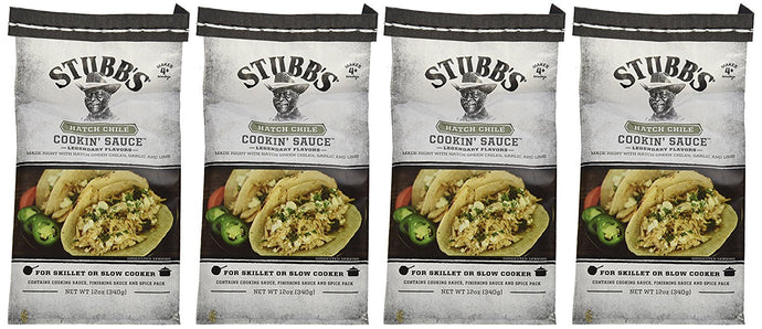 Stubb's Hatch Chili Cookin Sauce 12 oz ( 4 pack) - Buy Fast delivery