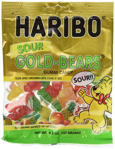 Haribo Sour Gold-Bears Gummi Candy Bag (4.5 oz/127g) - Buy Fast delivery