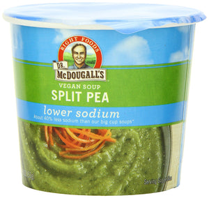 Dr. McDougall's Right Foods Vegan Split Pea Soup, Lower Sodium, 1.9-Ounce Cups (Pack of 6) - Buy Fast delivery
