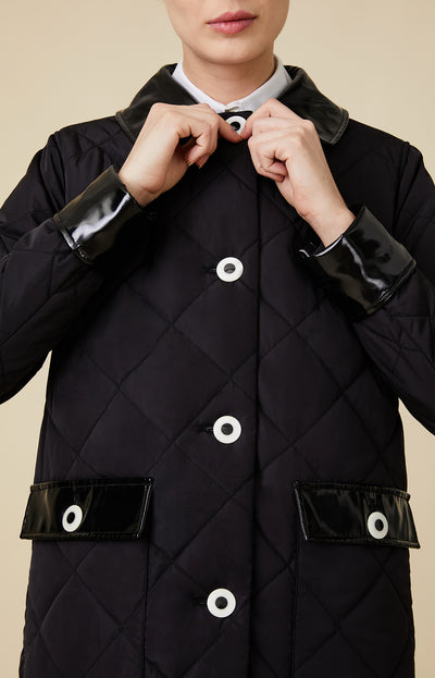 Long Quilted Dressy Coat