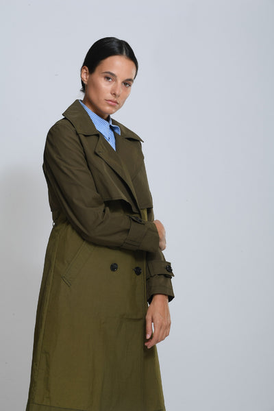 MIX FABRIC NEW YORK TRENCH