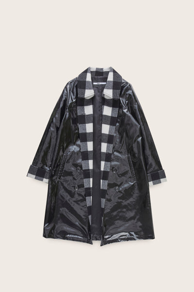 Double Breasted Slicker Coat