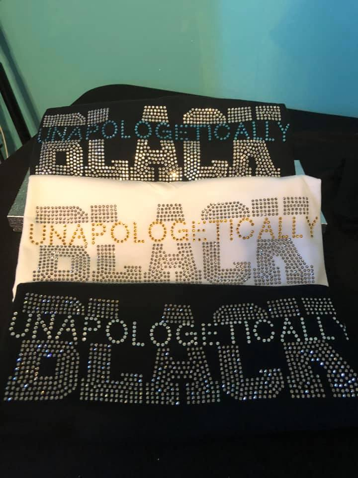 UNAPOLOGETICALLY BLACK BLING TEE