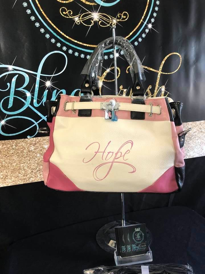 PINK CANCER AWARENESS HOPE HANDBAG