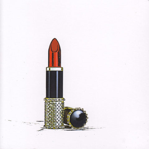 Jewelled Lipstick Card