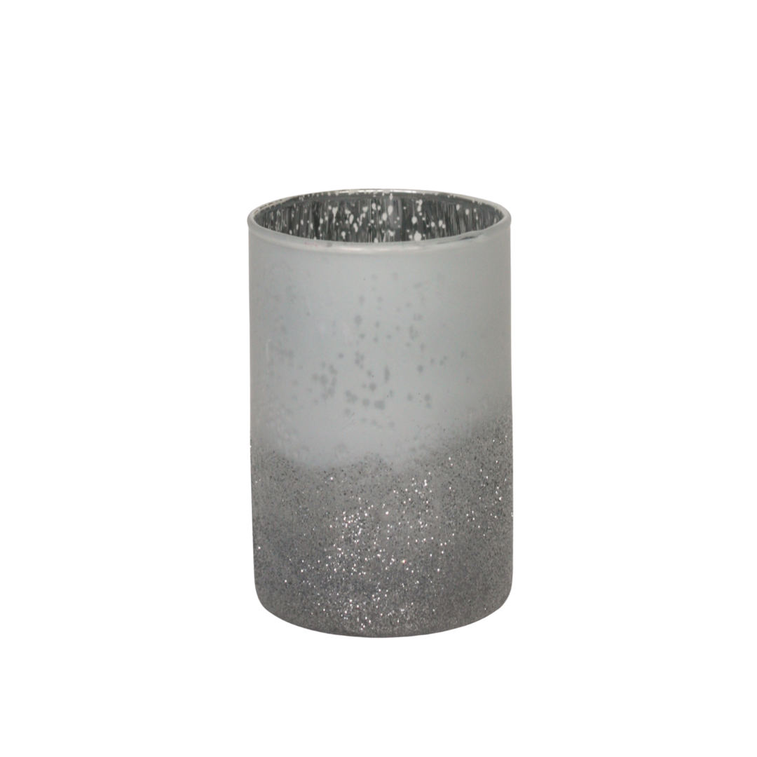 Sparkly Silver Candle Holder