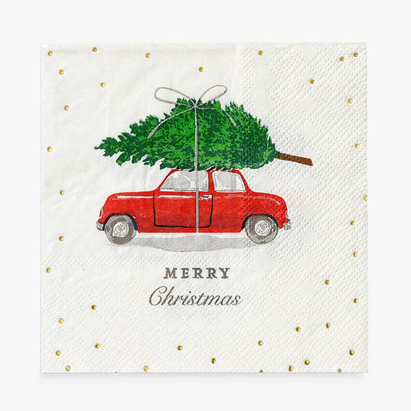 Berry Car Cocktail Napkin, Pack of 16