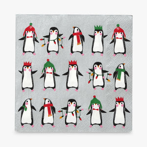 Penguin Pride Christmas Disposable Napkins, Pack of 20