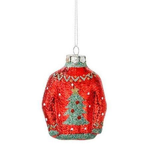Glass Christmas Jumper Decoration