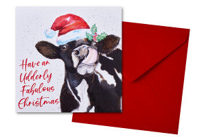 Udderly Fabulous Christmas Card