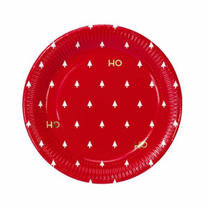 """Ho Ho Ho"" Paper Plates, Pack of 8"