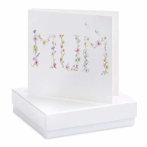Boxed Mum Earring Card