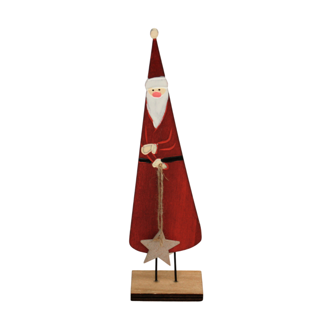 Wooden Santa with Star