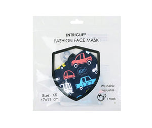 Childs Face Mask in Car Print