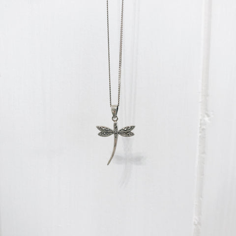 Stirling Silver Dragonfly Necklace