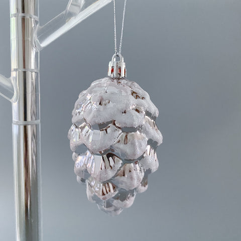 Frosted Pine Cone Decoration