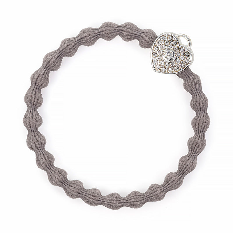 Silver Heart Lock Cloudy Hair Band