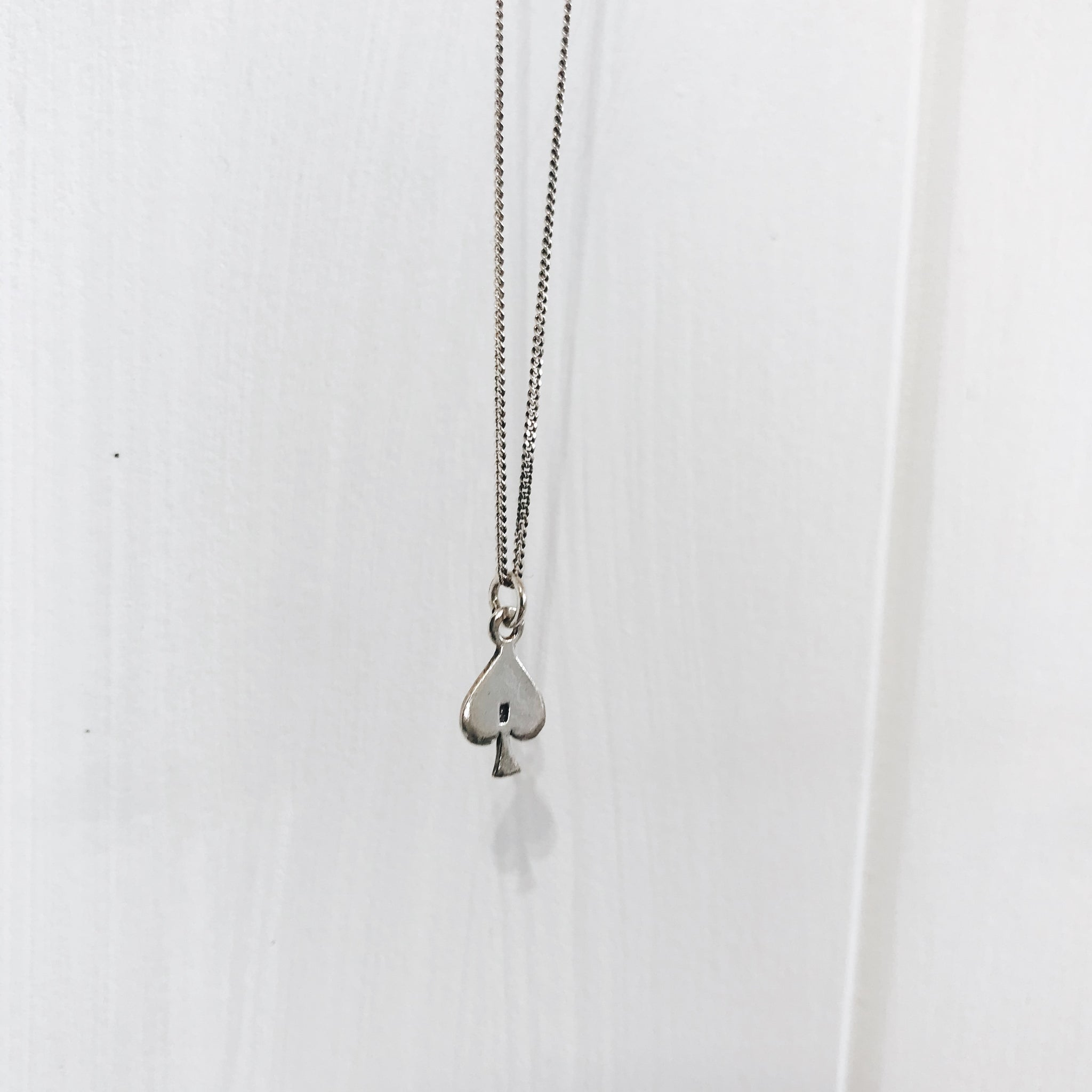 Ace of Spades Stirling Silver Necklace
