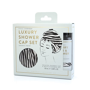 Zebra Shower Cap Set – Watermelon