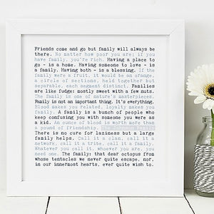 Family Wise Words Quotes Print