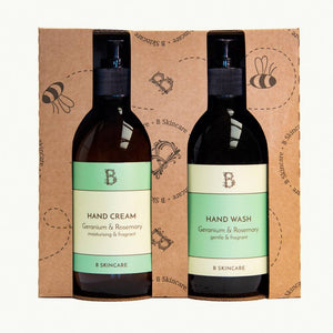 B Handy Gift Set in Geranium and Rosemary