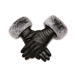 Lambskin Gloves with Fur Cuff