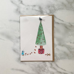 Christmas Tree Card with Glass Beads