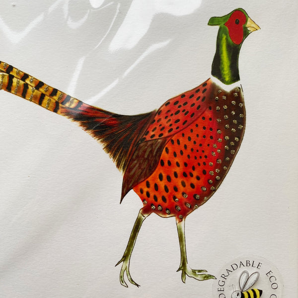Glitter Pheasant Notebook