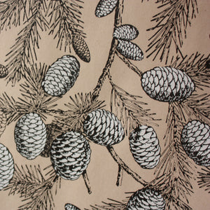 Pine Cone Print Single Sheet Wrapping Paper