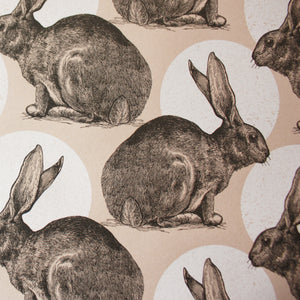 Hare Print Single Sheet Wrapping Paper